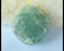 Natural Nugget Fluorite ,Rough Stone Pendant,36x30x20mm,176.5ct(17042208)