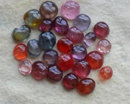 BIG OFFER!!!-29.50 CTS~STUNNING FIRE RAREST FANCY COLOR SPINEL CABS!!!