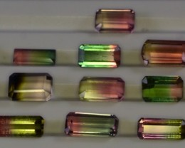 30 Carats 16 Pcs Bi Color Tourmaline Lot Gemstone from Afghanistan