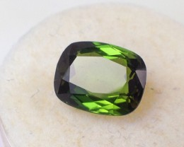 2.41 ct Bi-Color Tourmaline - Old Stock Fancy Antique Cut Rich Green