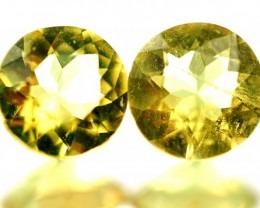 0.92 CTS - CERTIFIED  NATURAL YELLOW BERYL PAIR  [SAP491]