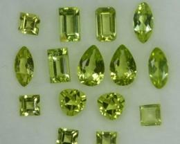 3.85 Cts Natural Pakistan Green Peridot 5x4x3 Mixes Shape 15 Pcs Parcel