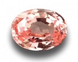 0.63 Carats | Natural Unheated Orange Pink Sapphire | Loose Gemstone | New