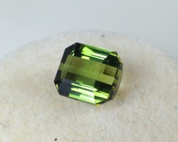 1.77 ct Tourmaline - Octagon Cut Yellowish Green Tourmaline - Price Drop!!