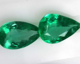1.64CTS CERTIFIED BRAZILIAN EMERALD FACETED PAIRS 2PC TBM-1115