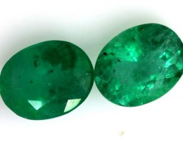1.28CTS CERTIFIED BRAZILIAN EMERALD FACETED PAIRS 2PC TBM-1118