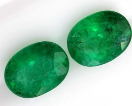 2.47CTS CERTIFIED BRAZILIAN EMERALD FACETED PAIRS 2PC TBM-1120