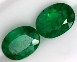 1.99CTS CERTIFIED BRAZILIAN EMERALD FACETED PAIRS 2PC TBM-1122