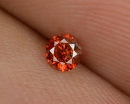 0.10 Cts Natural Orangesh Red Diamond Round Africa