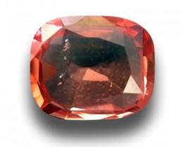 CERTIFIED Natural Corundum Padparadscha 0.83 cts CEYLON Sapphire