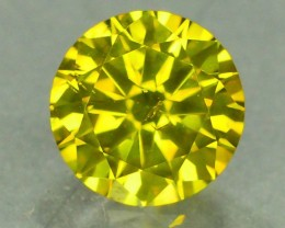 0.75 ct Natural Yellow Diamond Round Brilliant Cut