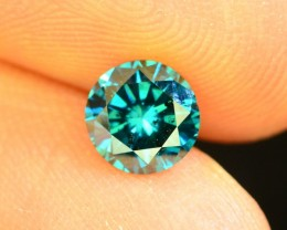 0.670 ct Natural blue Diamond Round Brilliant Cut