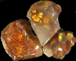 145.00 CTS FIRE AGATE ROUGH PARCEL DEAL [F6971]