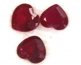 2.245CTS RUBY FACETED 3PC PARCEL PG-2085
