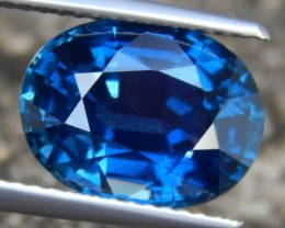 GIA Certified, 6.19cts Sapphire,  Eye Clean,  Calibrated