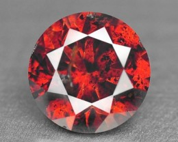 NATURAL COGNAC RED DIAMOND - 0.42 Cts - ROUND - AFRICA