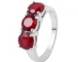 Sterling silver ruby ring 3 carat stone
