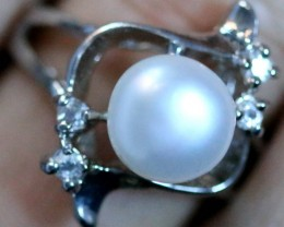 Ring Size 7 Natural fresh water Pearl Ring   PPP 1269