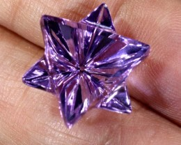 12.2CTS AMETHYST FLOWER CARVING GEM GRADE LT-766