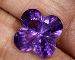 5.8CTS AMETHYST FLOWER CARVING GEM GRADE LT-770