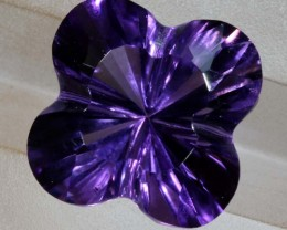 5.8CTS AMETHYST FLOWER CARVING GEM GRADE LT-771