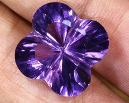9.3CTS AMETHYST FLOWER CARVING GEM GRADE LT-772