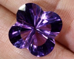 8.9CTS AMETHYST FLOWER CARVING GEM GRADE LT-774