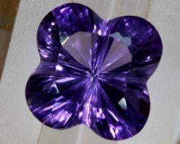 7.2CTS AMETHYST FLOWER CARVING GEM GRADE LT-775