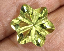 5.4CTS LEMON QUARTZ FLOWER CARVING LT-782