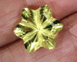 5.2CTS LEMON QUARTZ FLOWER CARVING LT-783