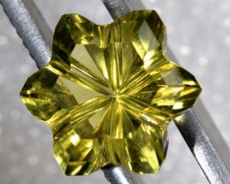 5.3CTS LEMON QUARTZ FLOWER CARVING LT-784