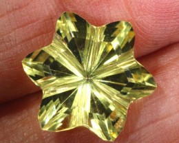 5CTS LEMON QUARTZ FLOWER CARVING LT-787