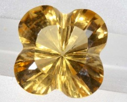 5.8CTS CITRINE CARVING FLOWER STONE LT-795