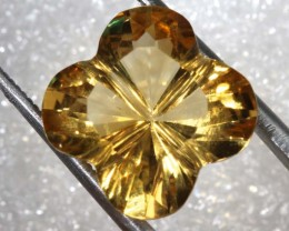 7.9CTS CITRINE CARVING FLOWER STONE LT-797