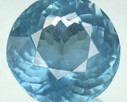 NATURAL AQUAMARINE Santa maria Blue 1.87 Cts ROUND BRAZIL