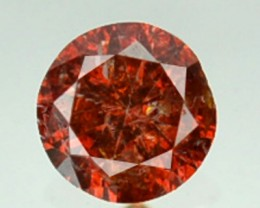 0.09 Cts Natural Orangesh Red Diamond Round Africa