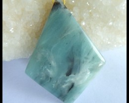 Natural Amazonite Pendant Bead,57x43x7mm,98ct(17042807)