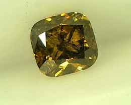 0.28ct Fancy Deep Brown Green Diamond , 100% Natural Untreated Gemstone