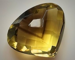 71.64ct Breath-taking Phantom Citrine Checker cut Pear