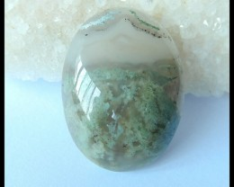 Natural Moss Agate Oval Cabochon,40x30x10mm,80.5ct(17042903)