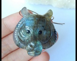 reserve for dfry13!Natural Labradorite Animal Carving Pendant Bead,35x34x20