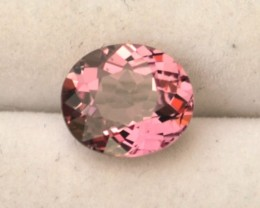 1.32 Carat Very Fine Oval Cut Bubblegum Pink Tourmaline
