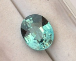 3.18 Carat Very Fine Oval Cut Sky Blue Zircon
