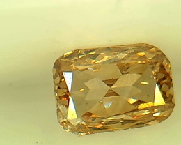 0.26ct Fancy Brownish Yellow , 100% Natural Untreated