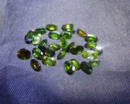 6.85ct Chrome Tourmaline Parcel, 100% Natural Gemstone