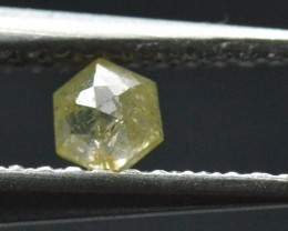3.5mm 0.19ct Yellow Hexagon rose cut Diamond