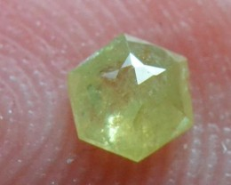 3.5mm 0.145ct Yellow Hexagon rose cut Diamond