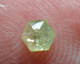 3.425mm 0.13ct Yellow Hexagon rose cut Diamond