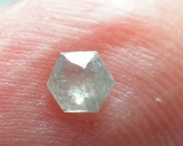 0.155ct 3.7mm Silver Grey Hexagon rose cut Diamond