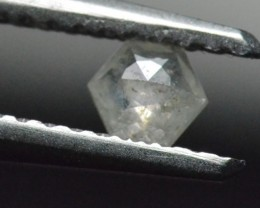3.75mm 0.155ct salt pepper Hexagon rose cut Diamond